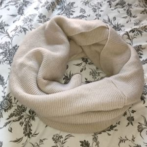Cream knit infinity scarf